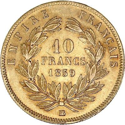 France - 10 Francs  1859-BB Napoléon III - Or