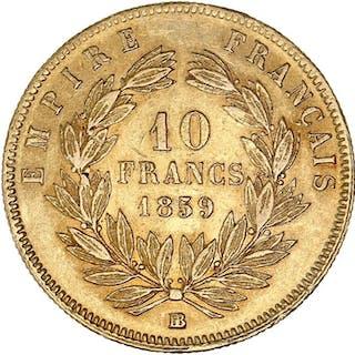 France - 10 Francs1859-BB Napoléon III - Gold