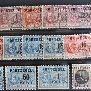 Niederlande 1906/1924 - Overprints Postage due commemorative stamps M.A