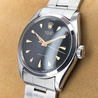Rolex - Oyster Precision Rare Black Arrowhead Dial - 6022 - Unisex - 1950-1959