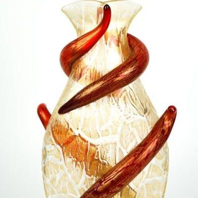 Vaso Ghiaccio Oro con decoro rosso 1/1 - (cm 36) - Vetro