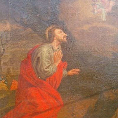 Painting Jesus In The Garden Of Getsemane 1 Cloth First