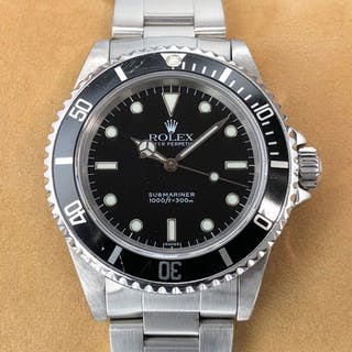"""Rolex - Submariner No Date """"Swiss Only"""" Dial - 14060 - Unisex - 1990-1999"""