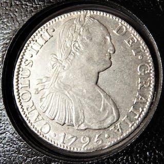 Spain - Mexico - Carlos IV - 8 Reales 1795 México FM - Silver