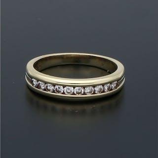 14 kt. Yellow gold - Ring - 0.20 ct Diamond