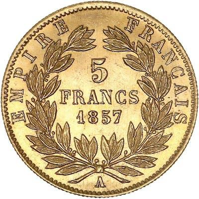 France - 5 Francs  1857-A Napoléon III - Or