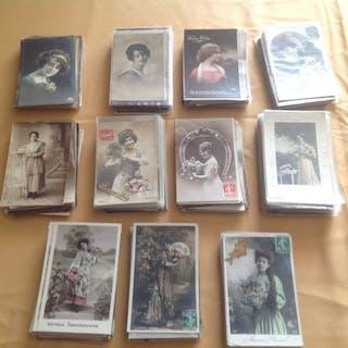 fancy women - Postcards (Group of 550) - 1905