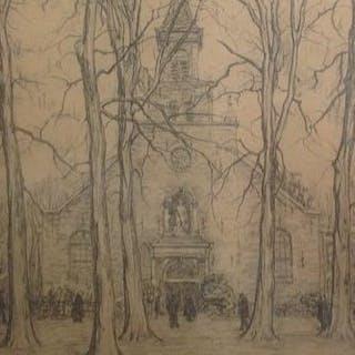 Ahazueros Jacobus Co Breman (1865-1938) - Het plein