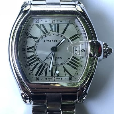 """Cartier - Roadster GMT - """"NO RESERVE PRICE"""" - 2722 - Homme - 2000-2010"""