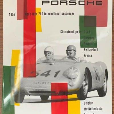 Sign - Porsche - Very Rare - Genuine Porsche 550 Spyder...