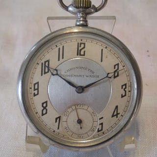 """montre de poche argent  chronomètre Gorgement Watch - """"NO..."""