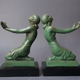 Fayral / Pierre Le Faguays - Max Le Verrier - Fermalibri Art Deco - 'Estasi'