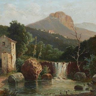 Raimondo Scoppa (1820-1890) - Veduta di Cava de Tirreni