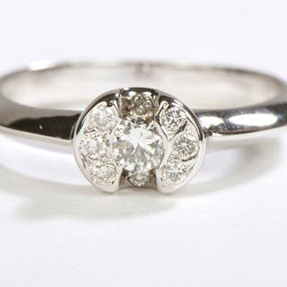 18 kts. White gold - Ring Diamond - Diamond