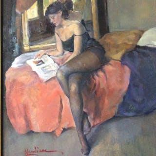 Walter Lambiase (1925/2004) - La modella e il Pittore