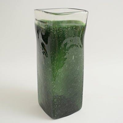 Attr. Seguso Vetri d'Arte - Vaso verde a Bollicine - Vetro