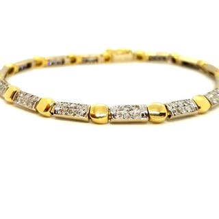 18 kts. White gold - Bracelet Diamond