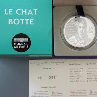 Francia - 10 Euro - 2012 Le Chat Botte - Etui mit Zertifikat - Argento