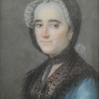 Ecole française XVIIIe - Portrait de femme