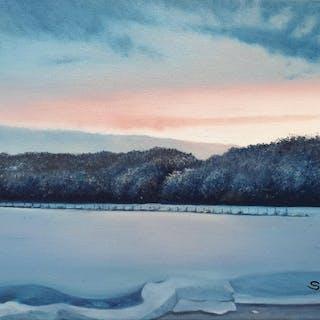 Sander van Zijl - Blue Snow Landscape