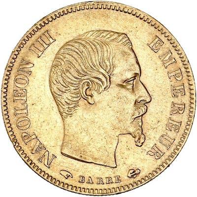 France - 10 Francs  1856-A Napoléon III - Or