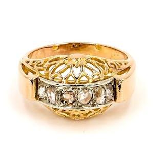 18 kts. Yellow gold - Ring Diamond