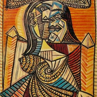 Pablo Picasso (after) - Woman in Hat ( Femme Assise )