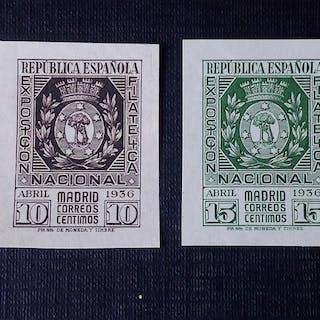 Spanien 1936 - Philatelic Exhibition in Madrid - Edifil 727 y 728