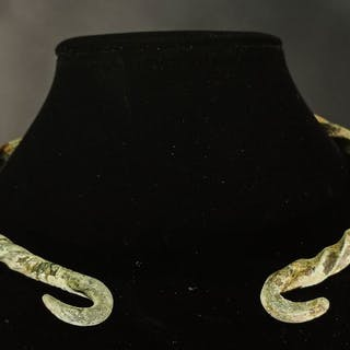 Ancient Bronze Age Bronze Twisted Neck Torc