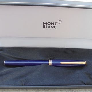 Montblanc - Füllfederhalter - Blauer Stift und goldene...
