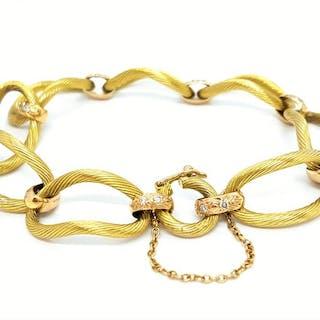 18 kts. Pink gold - Bracelet Diamond