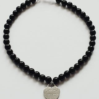 Tiffany - 925 Silber, Onyx - Armband