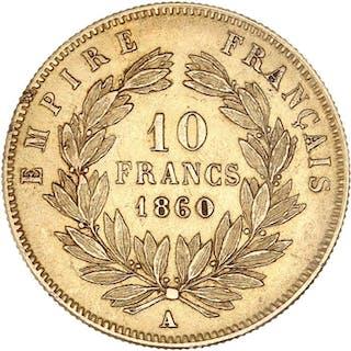 France - 10 Francs  1860-A Napoléon III - Or