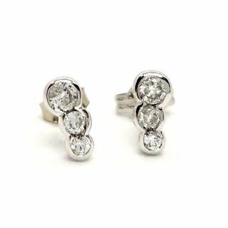 18 kts. White gold - Earrings Diamond