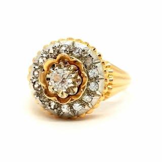 18 kts. Pink gold - Ring Diamond - Diamond