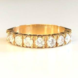 18 kt. Yellow gold - Ring - 0.90 ct Diamond