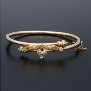 21,6 kt. Yellow gold - Bracelet - 0.59 ct Diamond
