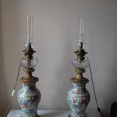 Vase monté en lampe (2) - Canton