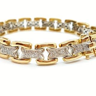 18 kts. Yellow gold - Bracelet Diamond