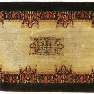 Amsterdam school rug with Tuschinski decor. 151 x 290 cm