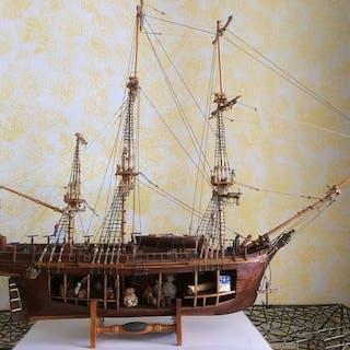 Schiffsmodell, Kopfgeld (1787) - Holz - Ende des 20. Jahrhunderts