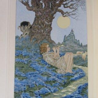 Anatole France, Gustav-Adolf Mossa - Les Sept femmes de la Barbe-bleue - 1921