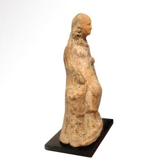 Ancient Greek Terracotta Figure of a Lady