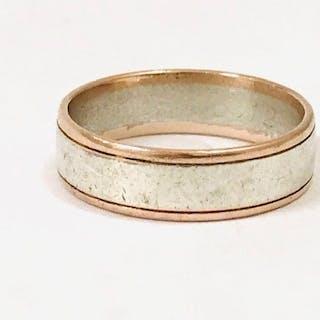 14 kt Gold und Sterling Silber - Ring