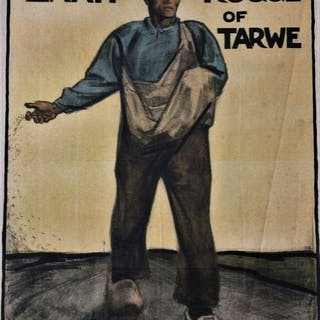 Willy Sluiter - Zaait rogge of tarwe - 1918