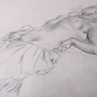 Edgar Degas - Lying Nude / Nu Couché