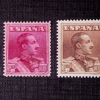 Spanien 1922 - Perforation and colour varieties - Edifil