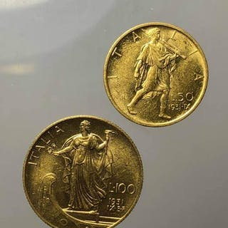 Italy - Kingdom of Italy - 100 e 50 lire 1931 IX Vittorio Emanuele III - Gold