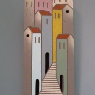 Ingrid Pellearts - Italiaans stads/dorpstafereel (Toscane)