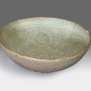 stoneware - green celadon - Sandstone - A SLIP-INLAID...